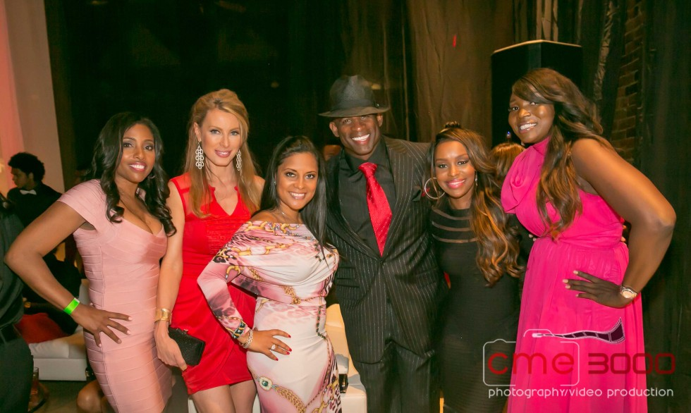 married 2 medicine cast-deion sanders-red and black gala atl 2013-the jasmine brand
