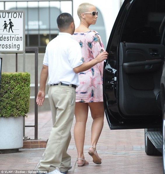 newly married amber rose-shops saks fifth 2013-the jasmine brand