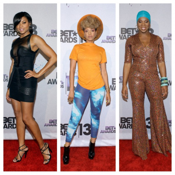 taraji p henson-erykah badu-india arie-bet awards 2013-backstage-the jasmine brand