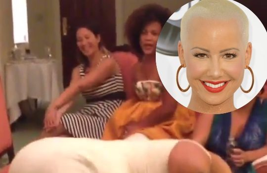 [VIDEO] Stop & Stare: Amber Rose Has Booty Poppin' Session, Hours Before Jumping the Broom