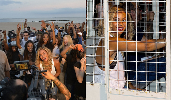 [WATCH] UPDATED: An Extended Look At Beyonce's Coney Island Shoot + Does Bey Have Baby Fever?