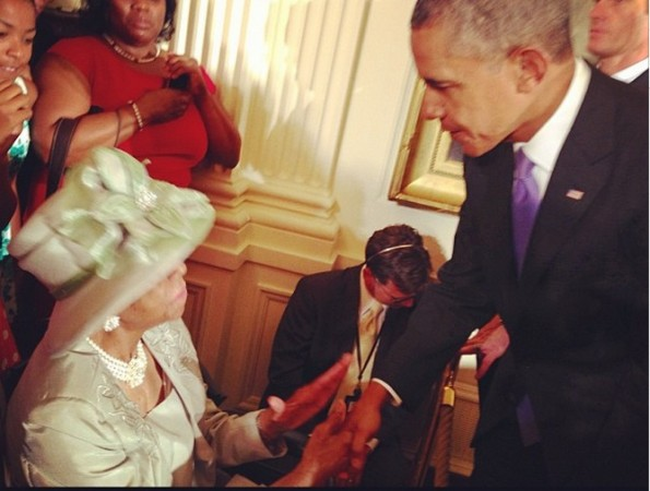c-star jones-and grandmother-visit white house 2013-the jasmine brand