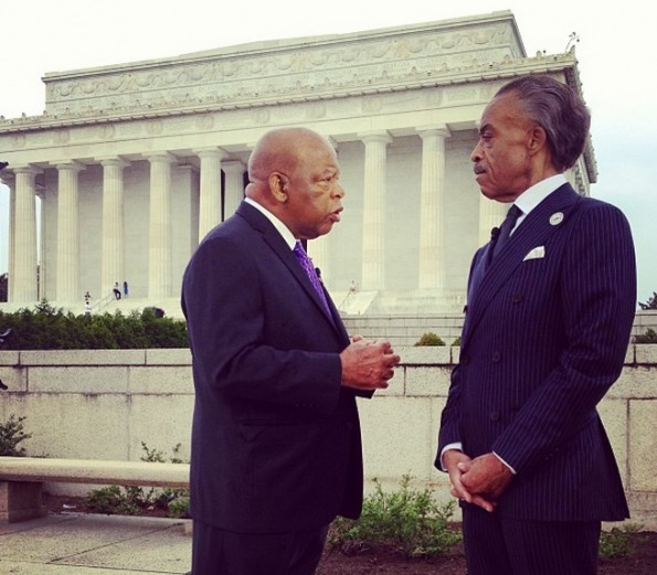congressman-al sharpton-march on washington-50th anniversary-the jasmine brand