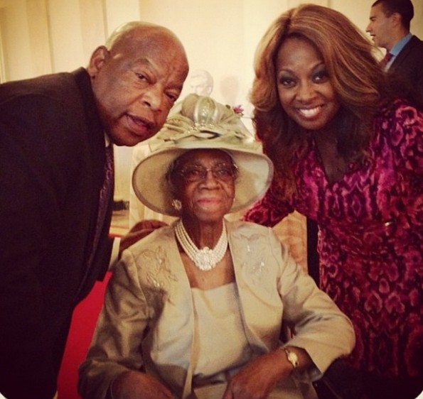 congressman john lewis-star jones-and grandmother-visit white house 2013-the jasmine brand