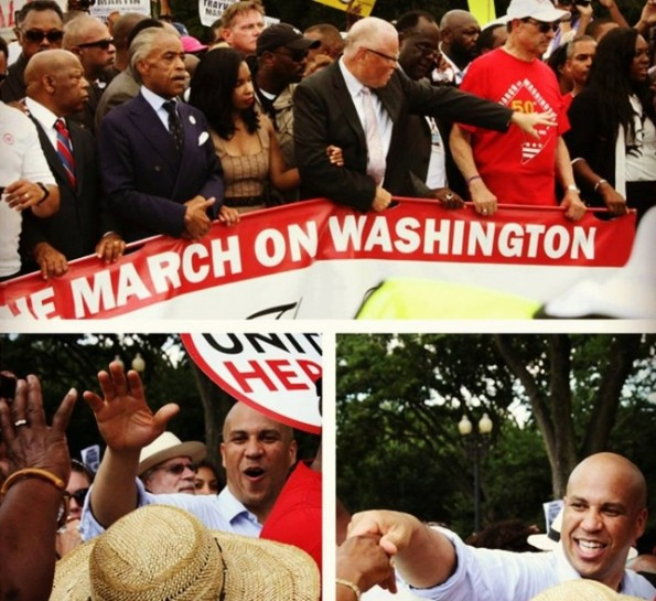 cory booker-march on washington-50th anniversary-the jasmine brand
