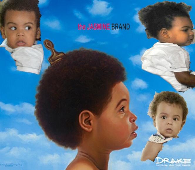 Super Does Drakes New Album Cover Resemble Blue Ivy Carter Short Hairstyles For Black Women Fulllsitofus