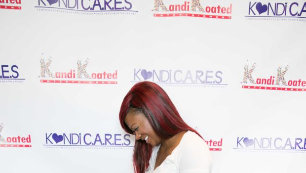 [Photos] Community Dopeness: Real Housewives of Atlanta's Kandi Burruss Donates School Supplies for ATL Children
