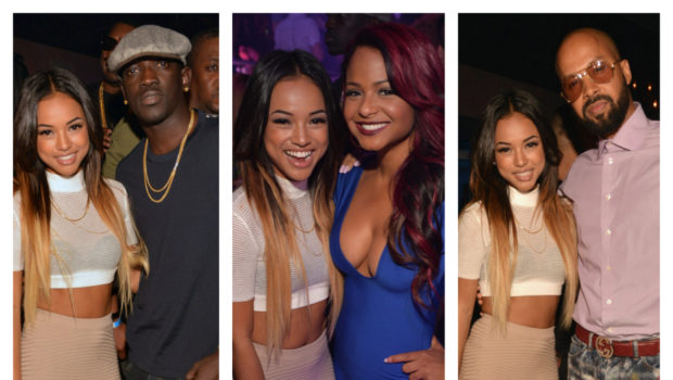 [Photos] Karrueche Steps Out After Chris Brown Seizure Scare, Parties in ATL With Christina Milian Meek Mill Friends