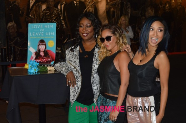 lonnie love-adrienne bailon-jeannie mai-love him or leave him book launch-main-the jasmine brand