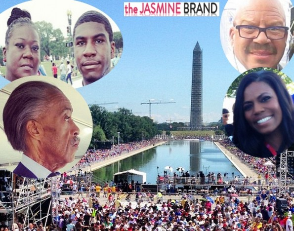 march on washington-50th anniversary-trayvon martin family-the jasmine brand