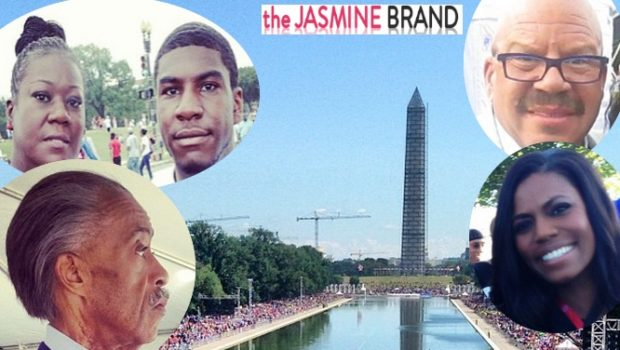 [Photos] Thousands March on Washington, Celebrating 50th Anniversary + Trayvon Martin's Family, Mayor Cory Booker & Other Celebs Spotted