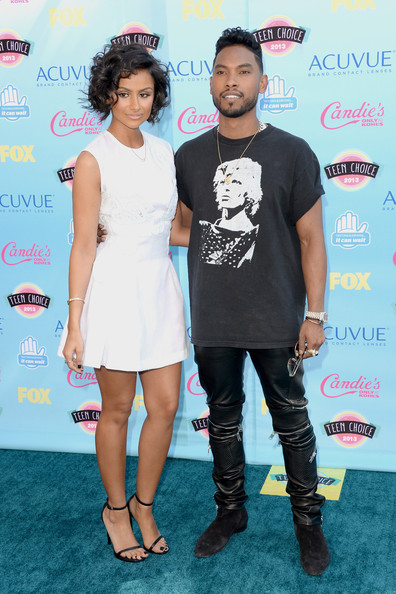 miguel and girlfriend-teen choice awards 2013-the jasmine brand