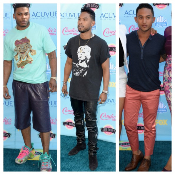 nelly-tahj mawry-miguel-teen choice awards 2013-the jasmine brand