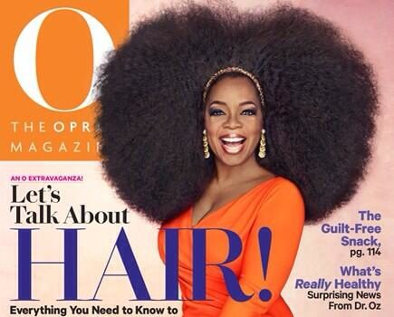 Oprah Unveils A Headful Of Natural Hair For O, Defends Decision to Interview Lindsay Lohan