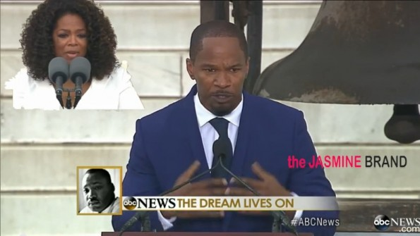 oprah winfrey-jamie foxx-march on washington 50th anniversary speech dc 2013-the jasmine brand