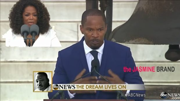 [WATCH]: Celebs Take Hollywood Hats Off For 50th Anniversary of March on Washington + Jamie Foxx & Oprah's Speech Steal Spotlight