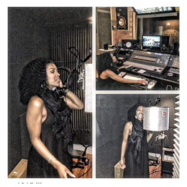 porsha stewart-singing in the studio-the jasmine brand