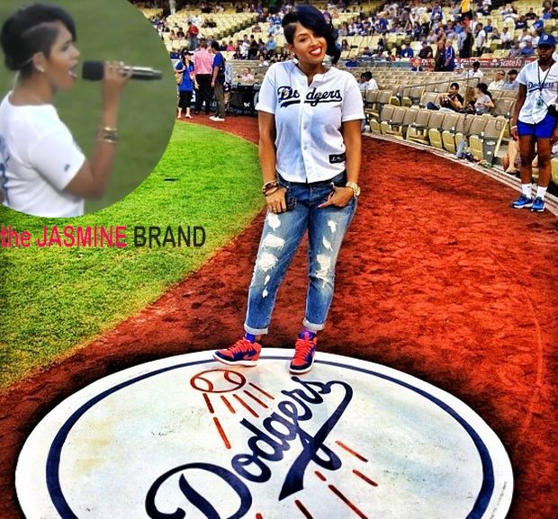 [WATCH] NeYo's Artist, RaVaughn, Belts Out the National Anthem At Dodgers Stadium