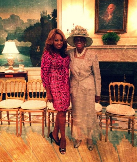 star jones-and grandmother-visit white house 2013-the jasmine brand