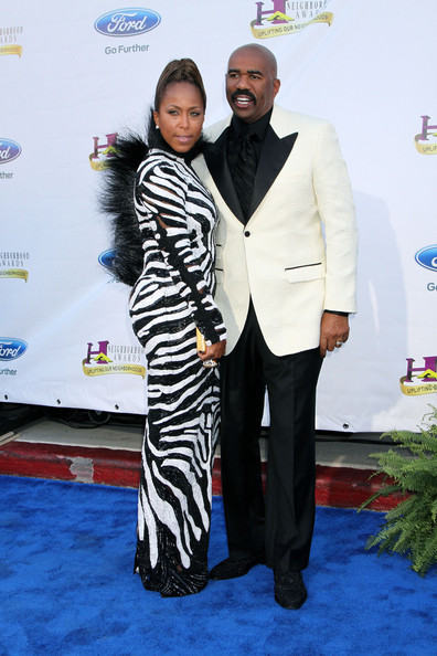 steve harvey-marjorie harvey-neighborhood awards 2013-the jasmine brand