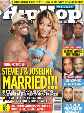 Stevie J & Joseline Land 1st Magazine Cover As Married Couple, Couple Explains Why They Opted for 'Justice of the Peace'