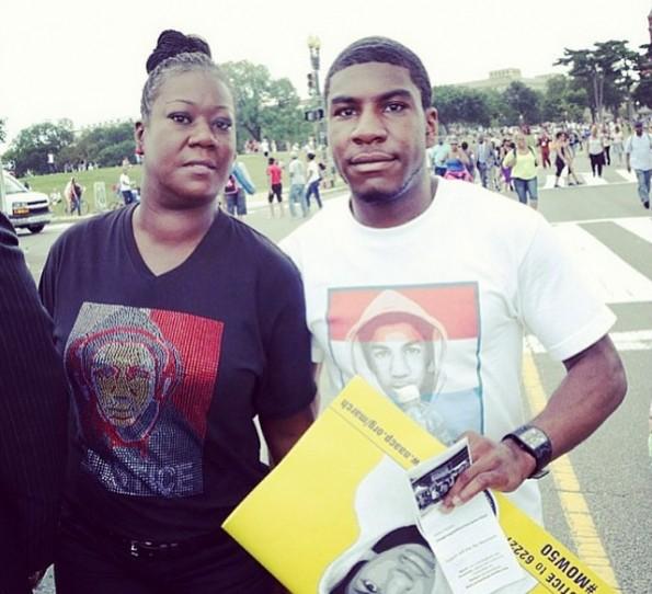 trayvon martins mother-sabrina-march on washington-50th anniversary-the jasmine brand