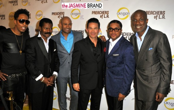 'Preachers of LA cast: Deitrick Hadden, Ron Gibson, Wayne Chaney, Jay Haizlip, Clarence McClendon, Noel Jones