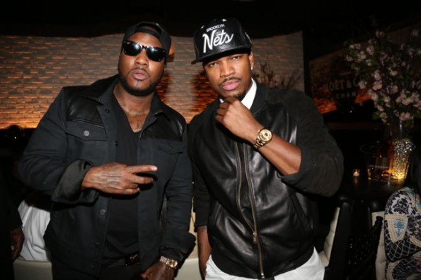 Jeezy and Neyo-moet STK dinner hip hop awards 2013-the jasmine brand