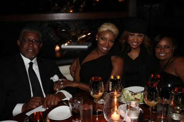 Nene and Greg Leaks and Cynthia Bailey-moet STK dinner hip hop awards 2013-the jasmine brand