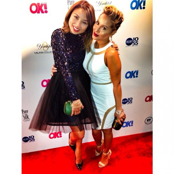 Adrienne-Bailon-Jeannie-Mae-Ok-Magazine Party-2013-The-Jasmine-Brand