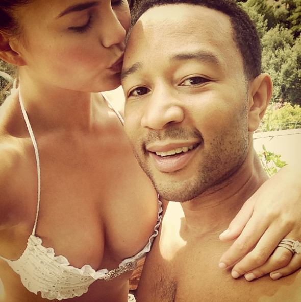 Chrissy Teigen Reveals She Slept w/ John Legend On The 1st Night