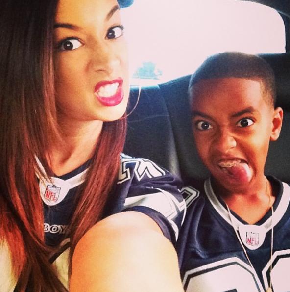 Draya-Michele-Son-Dallas-Cowboys-Game-The-Jasmine-Brand