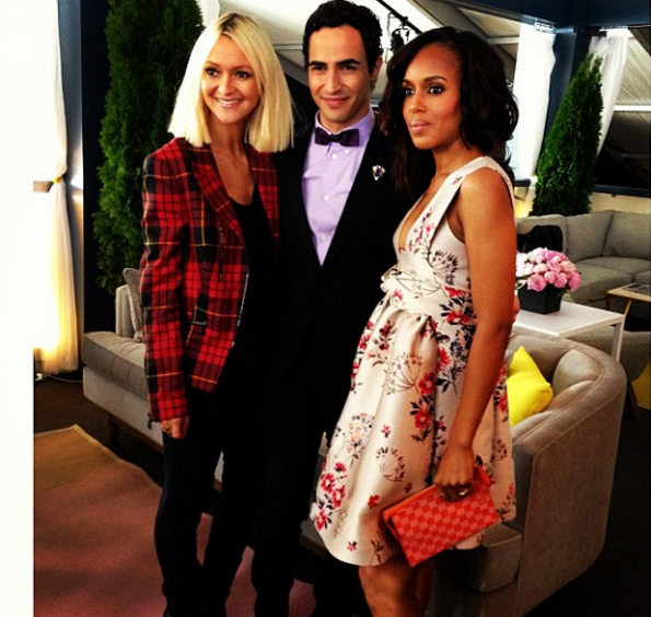 Zanna Roberts Rassi, Zac Possen, Kerry Washington New York Fashion Week 2013 Project Runway