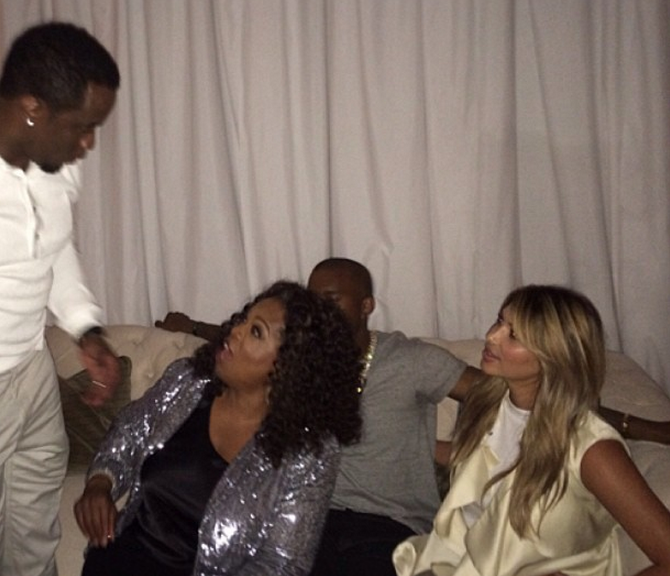 [Photos] Oprah Parties With Diddy, Kanye And Kim
