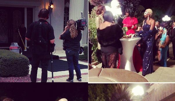 [Photos] Real Housewives of Atlanta Cameras Caught Filming During Kenya Moore's Masquerade Ball