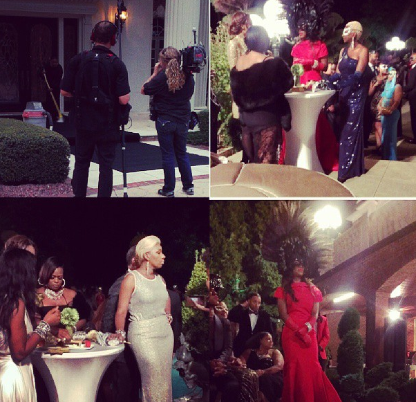 [Photos] Real Housewives of Atlanta Cameras Caught Filming During Kenya Moore's Masquerade Ball