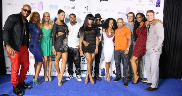 TNA cast with Bambi - Lil Scrappy - Joseline Hernandez - Stevie J - Benzino - Stefan Springman-the new atlanta cast-atlanta premiere-the jasmine brand