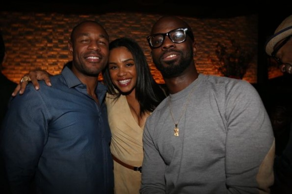Tank, Claudette Ortiz and Brian Michael Cox-moet STK dinner hip hop awards 2013-the jasmine brand