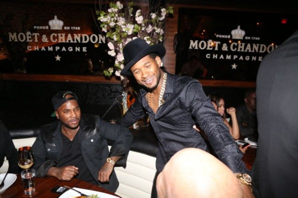 Usher-jeezy-moet STK dinner hip hop awards 2013-the jasmine brand