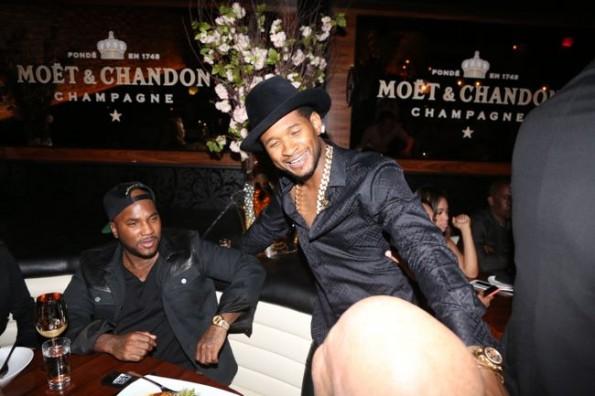 Usher-jeezy-moet STK dinner hip hop awards 2013-the jasmine brand