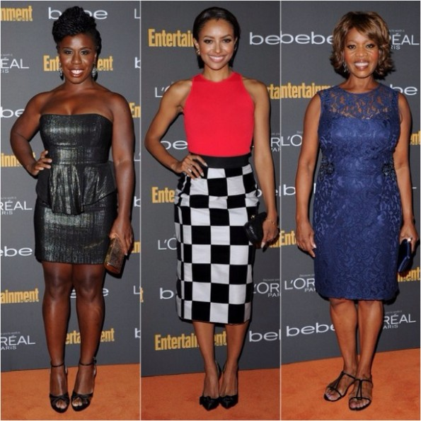 Uzo Aduba-kat graham-alfre woodward-pre emmy party 2013-the jasmine brand