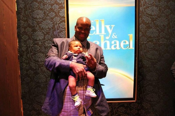 Vince Herbert with son Logan backstage at 'Live with Kelly & Michael'
