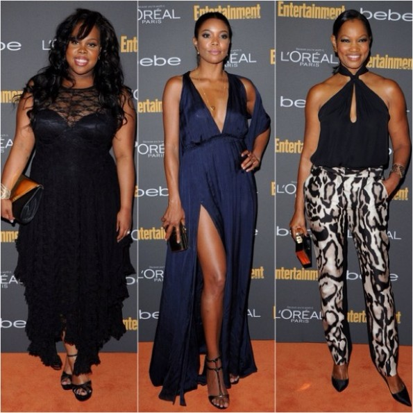 amber riley-gabrielle union-Garcelle Beauvais-pre emmy party 2013-the jasmine brand