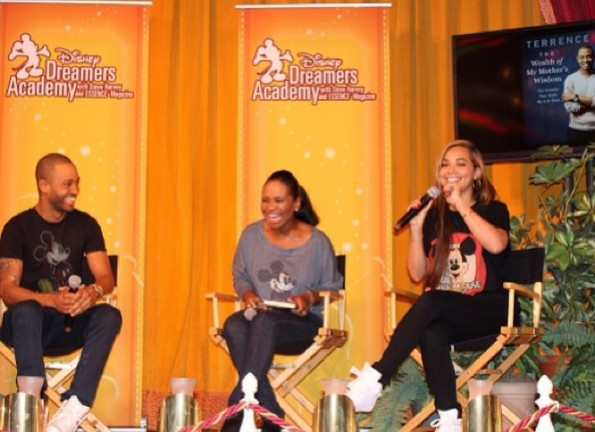 b-terrence j-promotes new book with lauren london-disney land-the jasmine brand