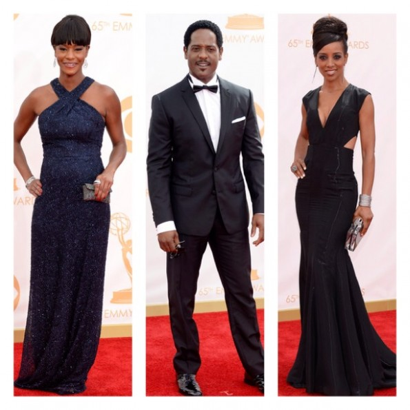 blair underwood-shaun robinson-emmy awards red carpet 2013-the jasmine brand