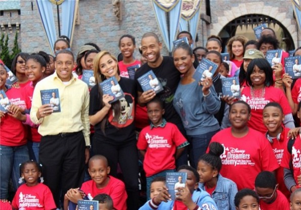 c-terrence j-promotes new book with lauren london-disney land-the jasmine brand