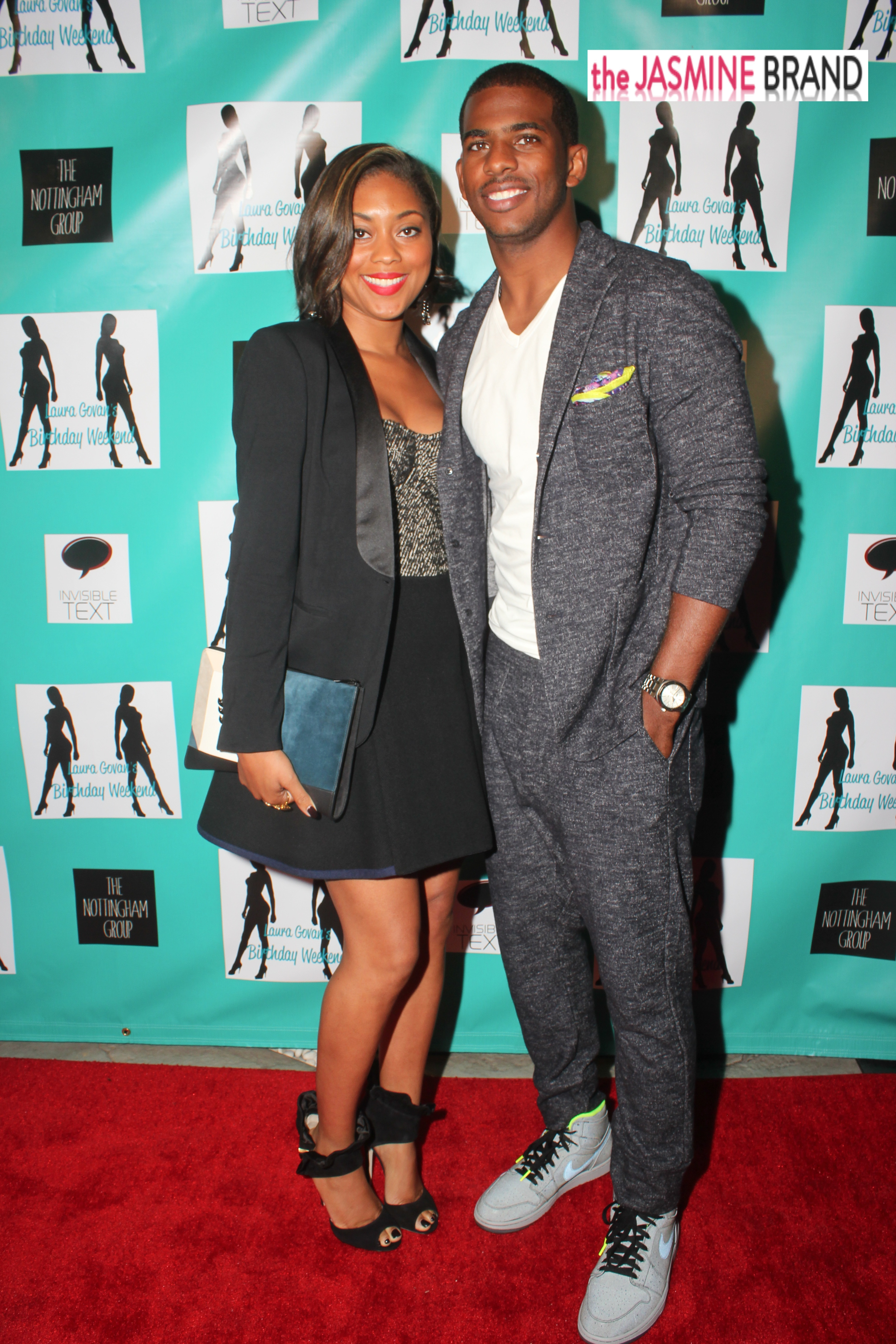 chris paul-wife jada paul-laura govan birthday party 2013-the jasmine brand