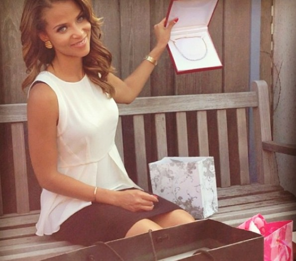 d-single ladies actress-denise vasi-bridal shower 2013-the jasmine brand