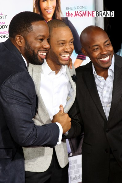 david e talbert-terrence j-will packer-baggage claim premiere-the jasmine brand