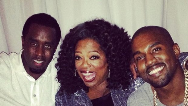 [Photos] Oprah Parties With Diddy, Kanye and Kim Kardashian